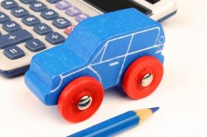 blue Car & Calculator