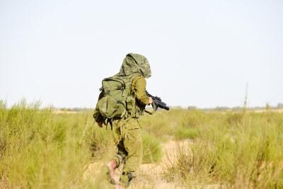 חייל מילואים שנלחם בשטח